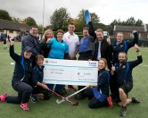 """Pictured is Cash for Clubs 2017 Grand Prize Winners, Bray Hockey Club with Topaz Head of Marketing, MJ Tierney, and Cash for Clubs 2017 Brand Ambassador, Alan Quinlan. Bray Hockey Club are delighted to be this year's €10,000 prize winners and will be using this year's donation to fund new facilities and equipment. For more information on Topaz Cash for Clubs, visit www.playorpark.ie/cash-for-clubs/clubs. Picture Colm Mahady / Fennells - Copyright© Fennell Photography 2017"